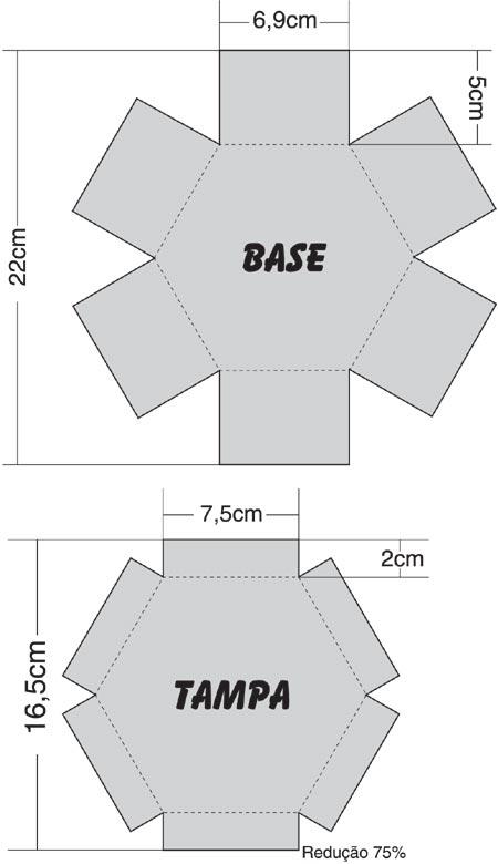 papel na lateral 14 corte o papel nos vincos 15 dobre e cole no