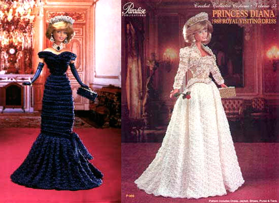 Reproduções das Roupas da Princesa Diana em Crochê