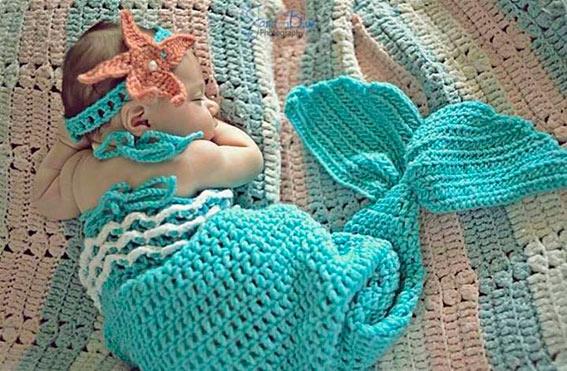A pequena Sereia de Crochê