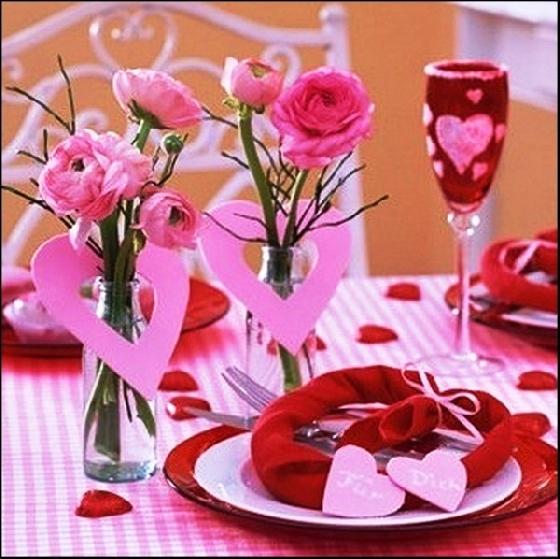 Dicas de decoração para mesa - Dia dos Namorados - Artesanato na ...