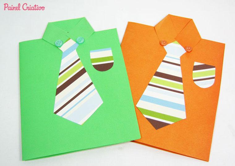 Armario Aberto Closet ~ Cart u00e3o artesanal para o Dia dos Pais u2013 Artesanato na Rede