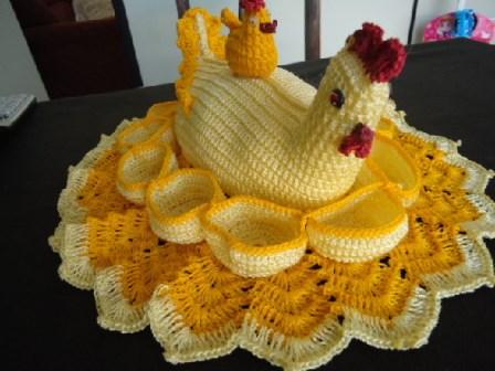 porta ovos de croch   artesanato na rede