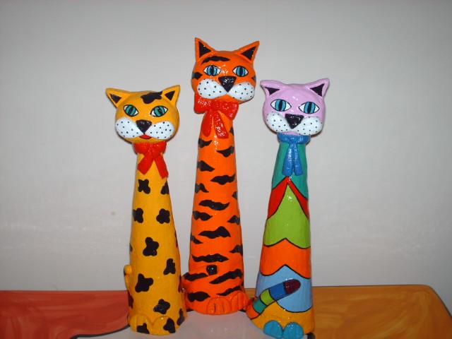Artesanato Ou Artesanato ~ Gatos de papel maché Artesanato na Rede