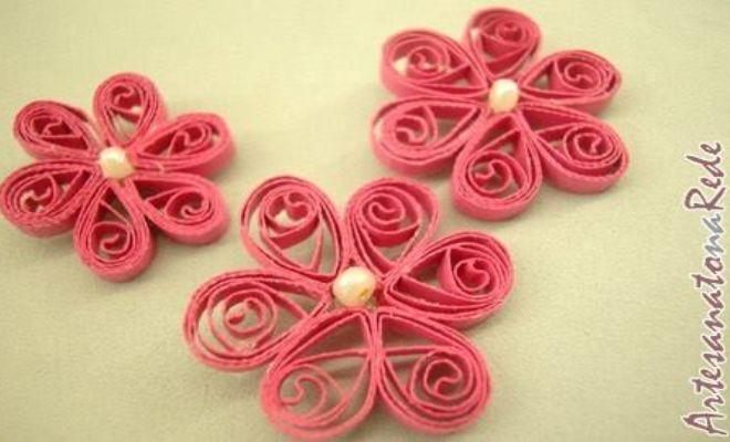 Loja Artesanato Osasco Primitiva Vianco ~ Quilling Aprenda como fazer flores de campo ARTESANATO NA REDE