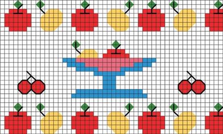 ponto-cruz-frutas-variadas