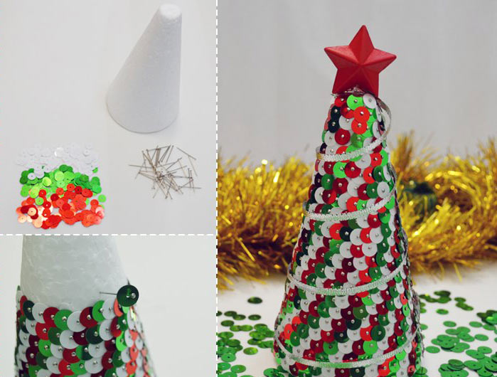 Árvore de Natal com Paetê