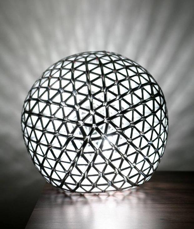 Luminária com caixa de leie
