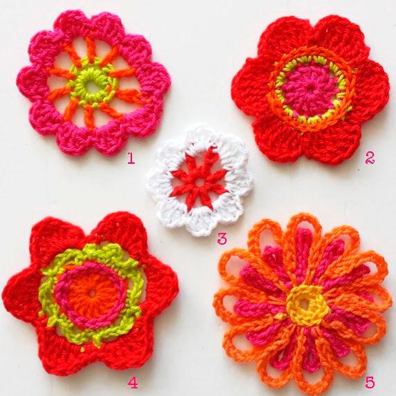 Gráfico das flores de crochê
