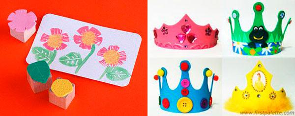 Carimbos e Coroas para as crianças