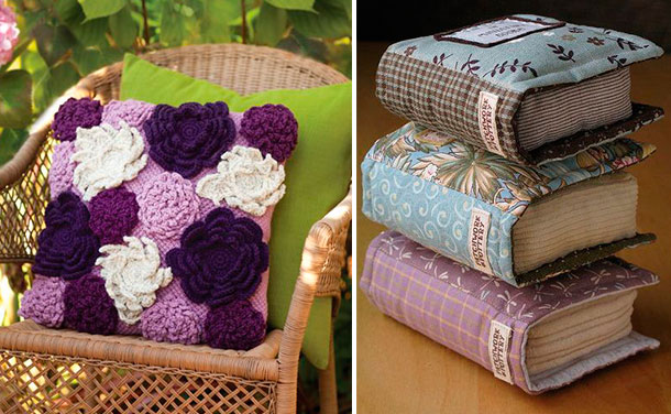 Crochê em flores e formato de livros!