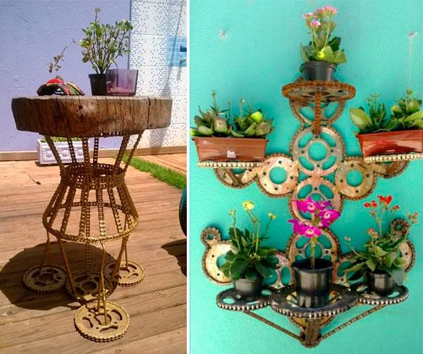 Mesa e suporte de plantas!