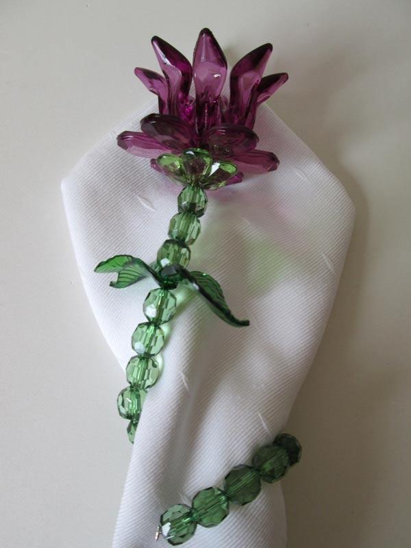 Porta Guardanapo de Flor Tulipa