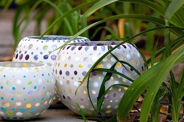 Lanterna de Jardim com Pedras de Vidro