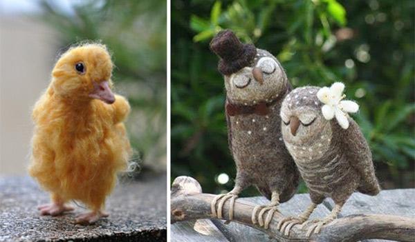 Patinho e corujas