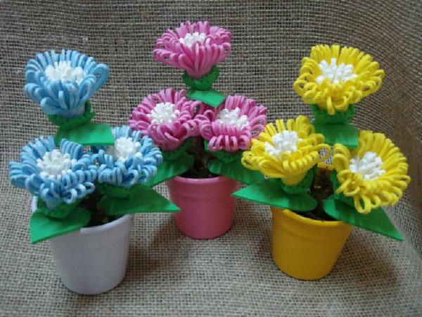 Aparador Movel Branco ~ Flores em EVA (vídeo) Artesanato na Rede