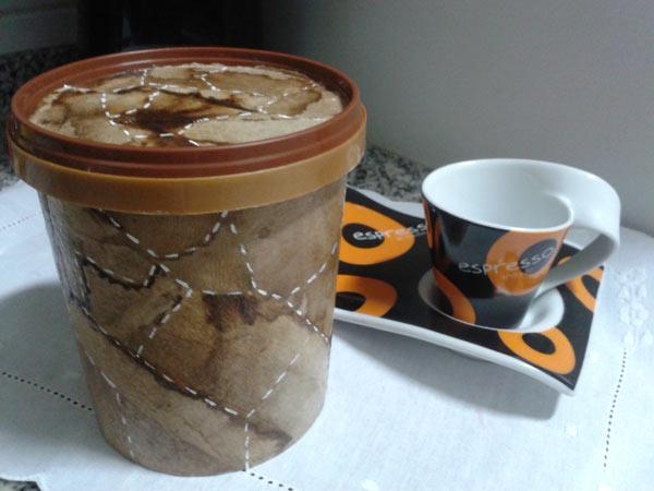 Pote Reciclado de Café