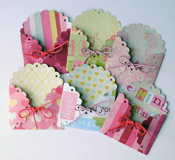 Você pode fazer envelopes menores e fofos