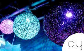 Luminária de Barbante Redonda