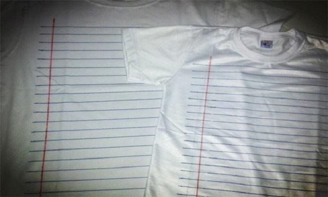 Camiseta pautada