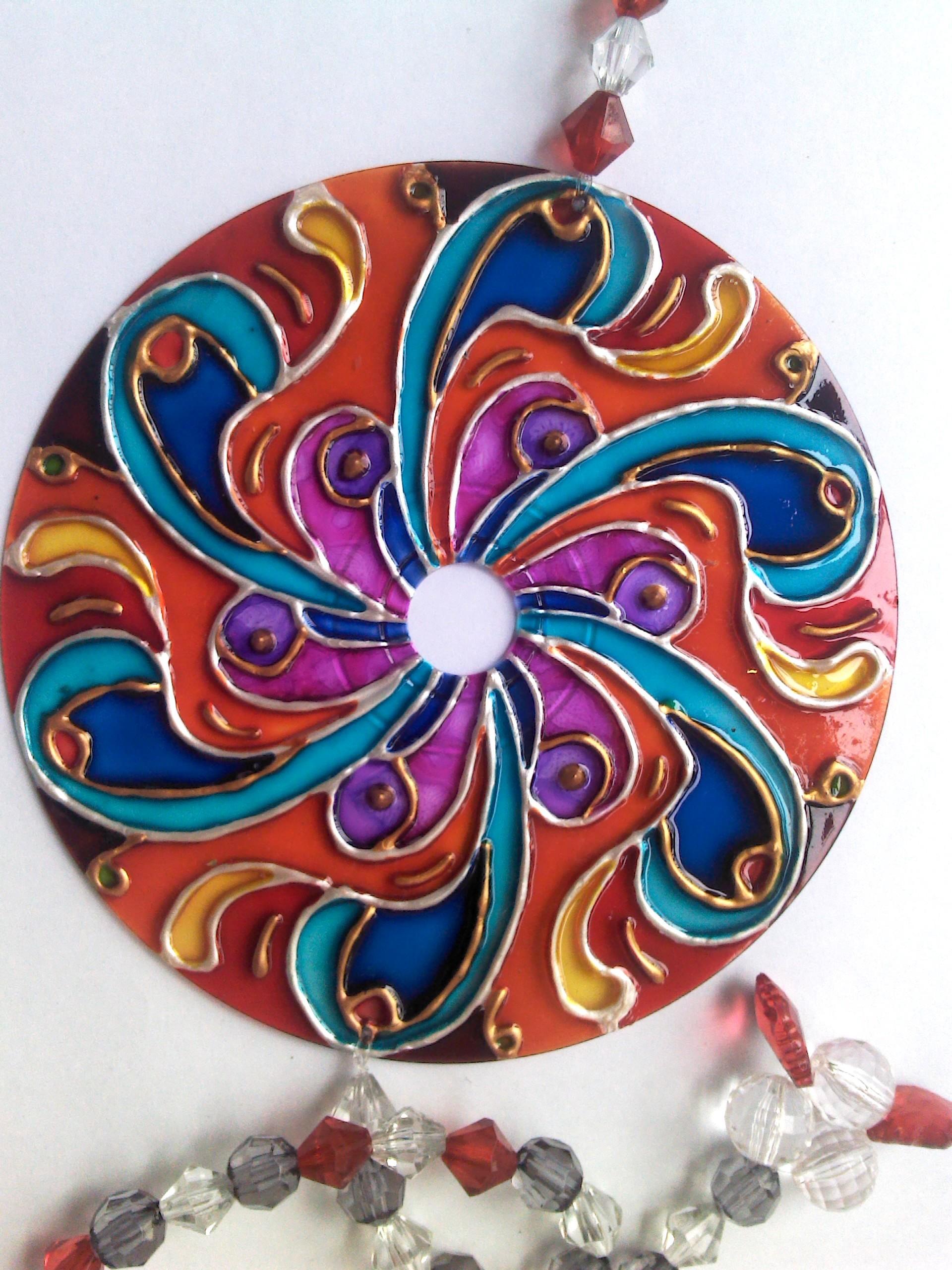Artesanato Na Rede Passo A Passo ~ Mandala de CD Artesanato na Rede