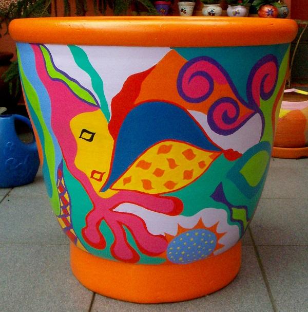 Aprenda como pintar vasos - 01