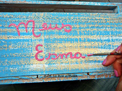 Recicle caixote de feira usando pátina-005