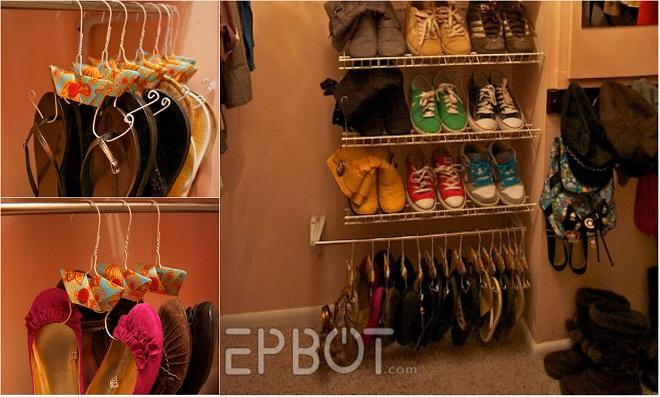 cabideiro para sapatos