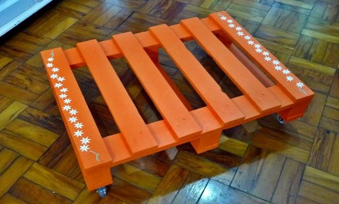 Mesa de centro feita com pallet - Principal