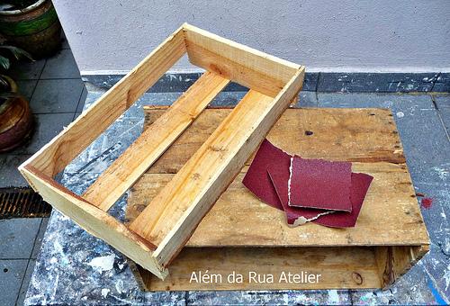 Aprenda como reaproveitar caixotes com pátina - 001