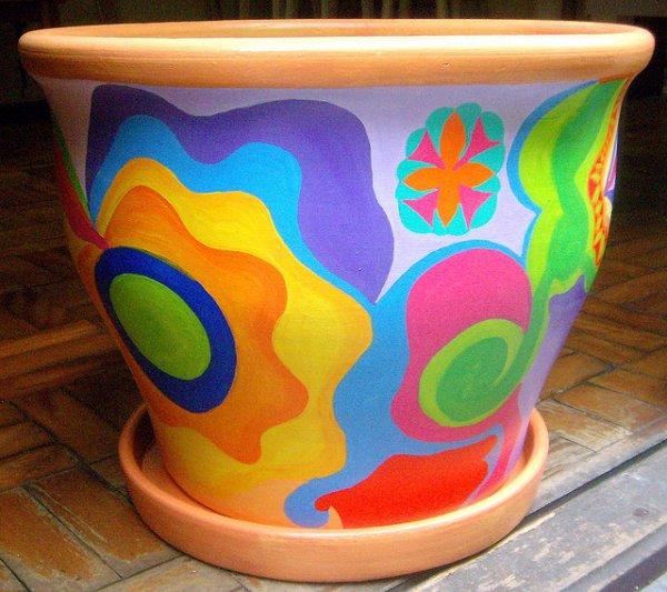 Aprenda como pintar vasos - 02