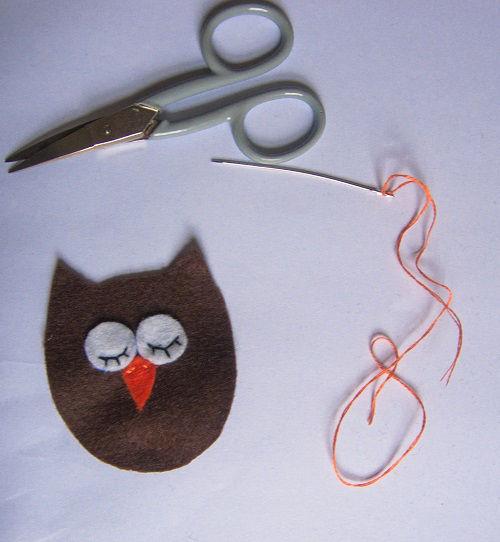 chaveiro de coruja em feltro(4)