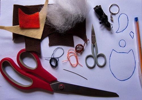 chaveiro de coruja em feltro(2)