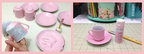 Scrapdecor: Lindas xícaras decoradas com flores