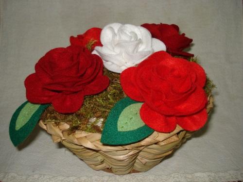 rosas de feltro-9