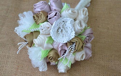 bouquet de noiva com flores de tecido - Irene (1)