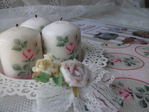 Decoupagem de velas com guardanapos e ferro (2)