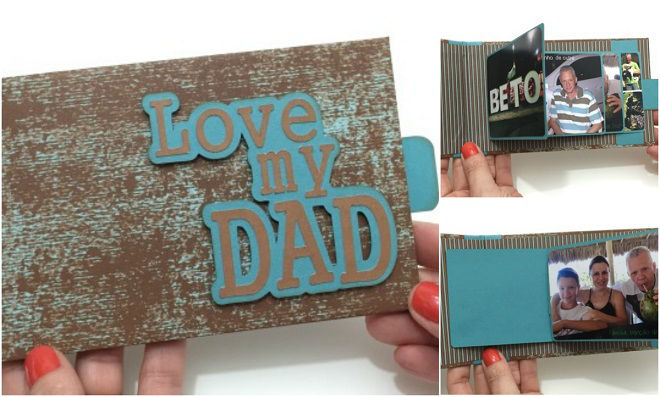Scrapbook: Cartão Cascata para o Dia dos Pais
