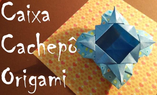 caixa cachepô origami