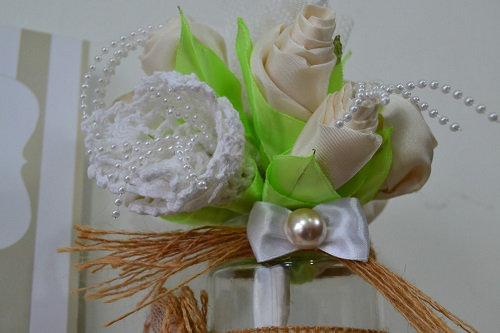 Centro de Mesa para casamento com pote de vidro-002