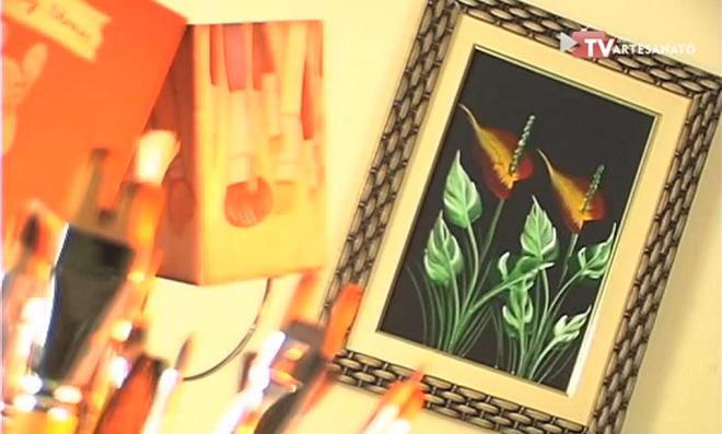 Pintura Decorativa - Desenhando Antúrio
