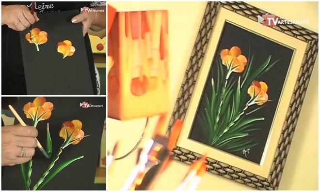 Pintura Decorativa Gestual Cravo