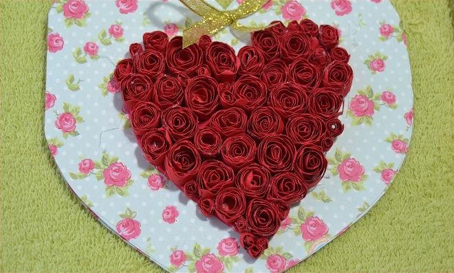 Cartão de Natal em forma de coração