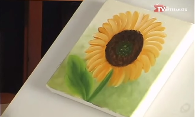 Pinturas Florais - Modelo girassol