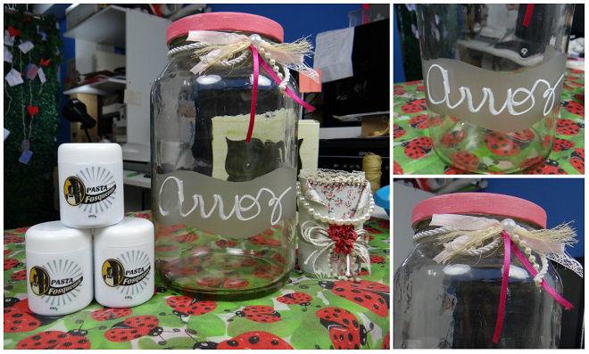 Fosqueamento em pote de vidro conserva