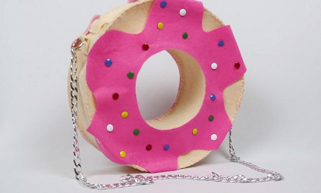 Aprenda como fazer uma bolsa Donuts