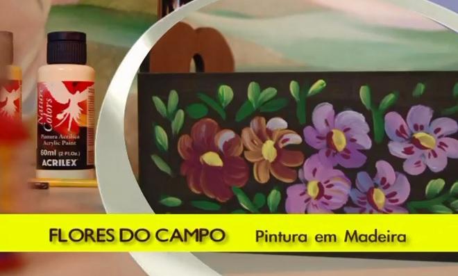 Aprenda pintura em madeira com a temática flores do campo