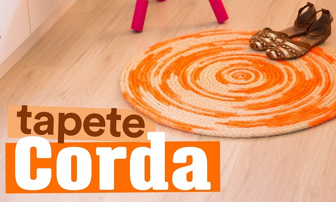 Para decorar! Lindo tapete feito com corda de sisal