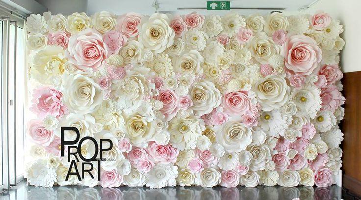 Rosas gigantes de papel lindas artesanato na rede for Crepe paper wall flowers