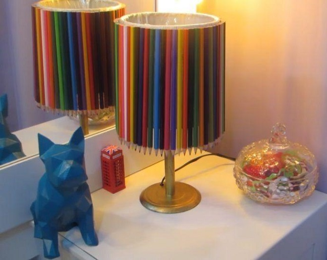 Festa e Casa: modelos de abajur decorativo - Abajur lápis de cor