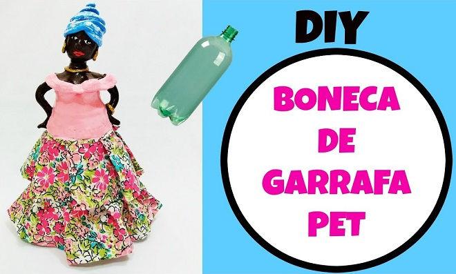 Reciclagem: Aprenda como fazer uma boneca de garrafa pet